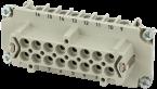 B16 female 16-pole, screw t., 500 V, 16 A