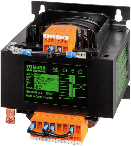 MTS SINGLE-PHASE CONTROL AND ISOLATION TRANSFORMER